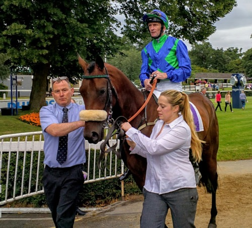 Stellar Mass and Kevin Manning goes out to win the Ballyroan Stakes