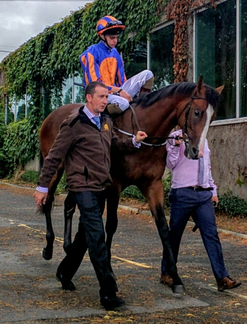 Lancaster Bomber on his way out to win his maiden at Leopardstown in August